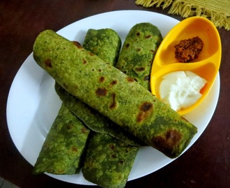 Palak Paratha | Spinach Roti ~ Easy Breakfast Ideas