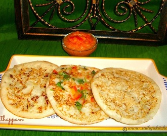 Uthappam Recipe / Oothappam Recipe / Onion Oothappam Recipe / South Indian Uthappam Recipe