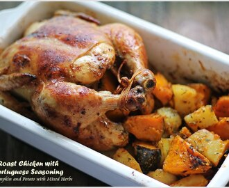Roast Chicken with Portuguese Seasoning for Christmas