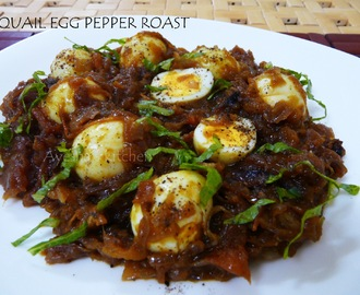 EGG RECIPE - QUAIL EGG PEPPER ROAST