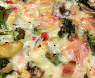 Baked Vegetables in White Sauce