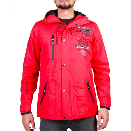 Geographical Norway Mens Red Clement jacka