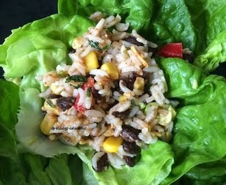 Mexican Rice Lettuce Wrap--HB We turn Six!!!