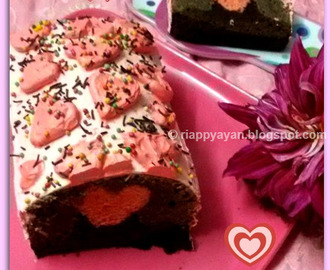 Valentien's Day Recipe idea : Hidden Heart Chocolate Cake