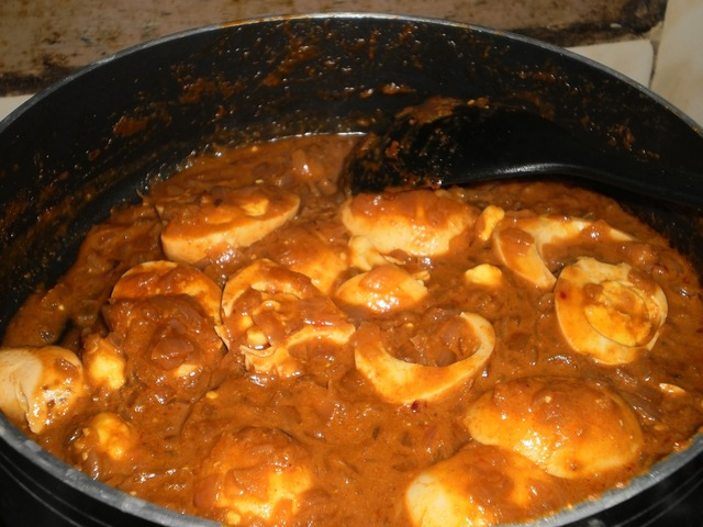 Egg Vindaloo(Portuguese cuisine influenced gravy)