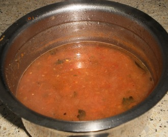 Fry free, less oil Tomato chutney in Sourashtra style