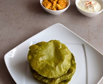 Palak Puri Recipe , How to make spinach Poori