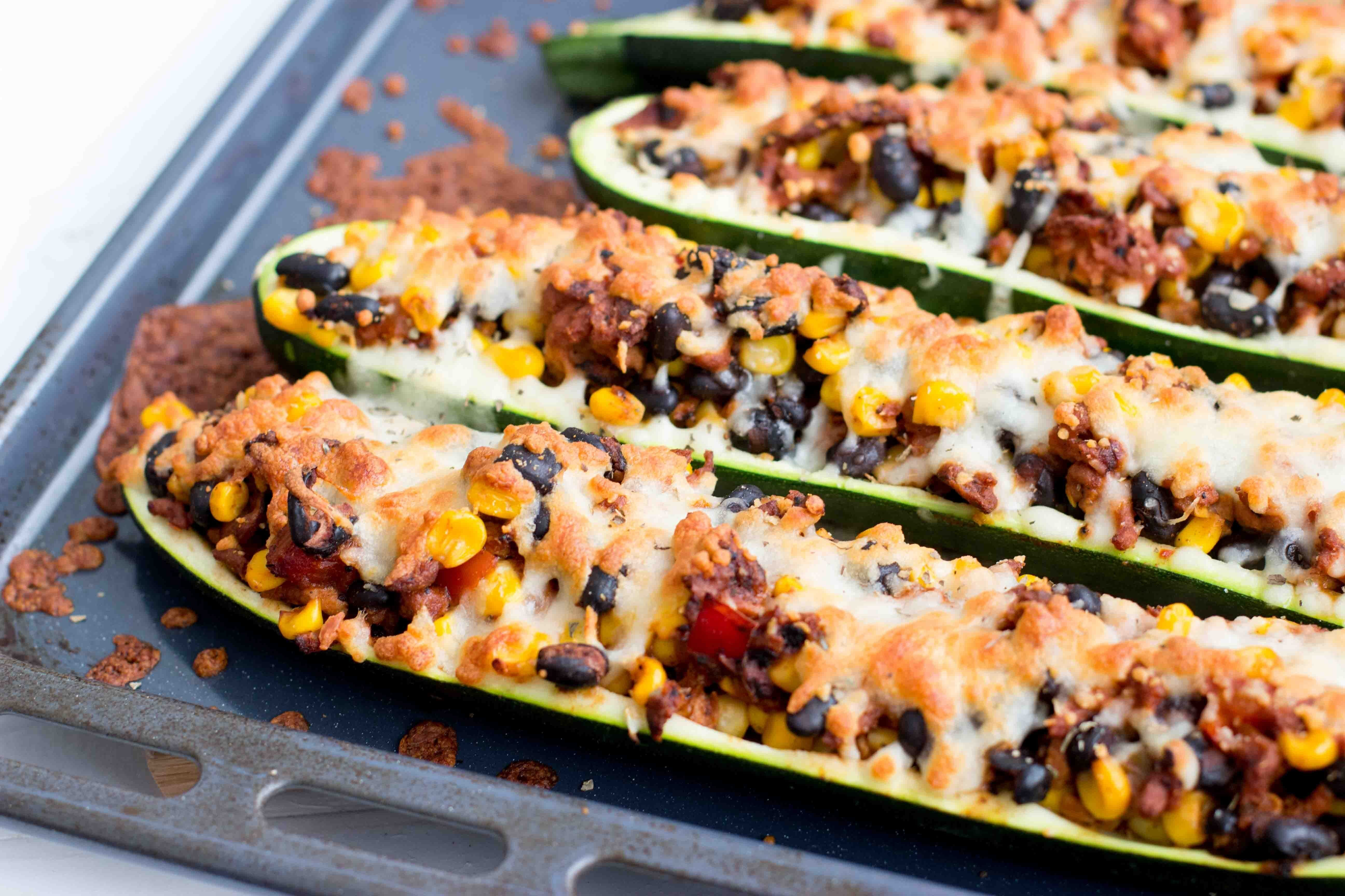 Mexicaanse gevulde courgette
