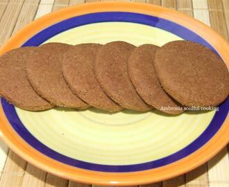 WHOLE WHEAT CHOCOLATE COOKIES