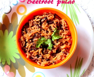 Beetroot rice or pulao recipe – how to make beetroot pulao/rice recipe