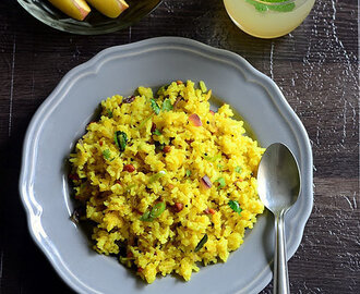Kanda Poha Recipe – Maharashtrian Onion Poha Recipe
