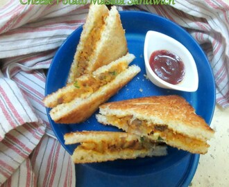 Easy Cheese Potato Sandwich | How to make Cheese Potato Sandwich on Tawa