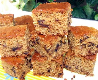 EGGLESS WHOLE WHEAT DATE AND WALNUT CAKE