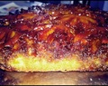 Upside down caramelized pineapple cake