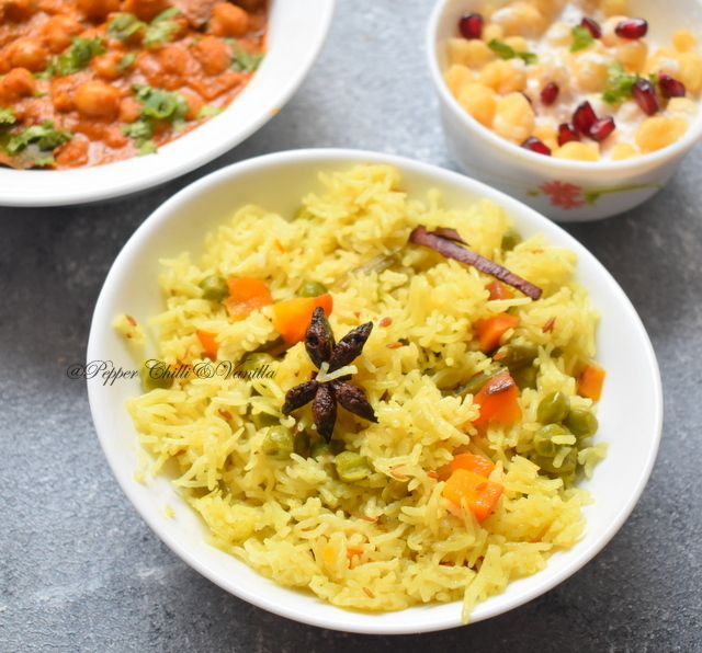 Veg Pulao in Coconut Milk /Coconut milk Veg Pulao/Pilaf