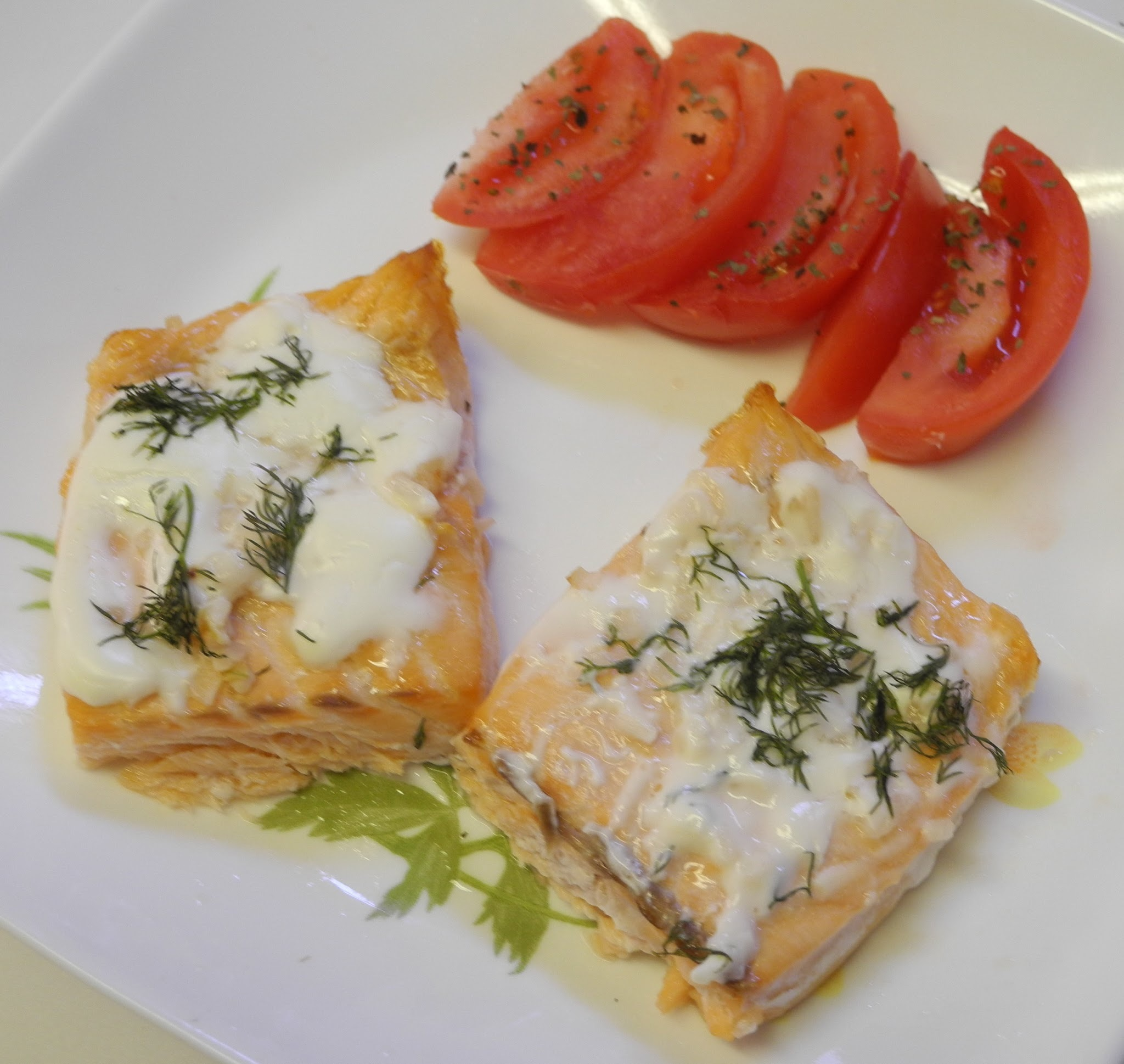 Baked Lemon Salmon in Sour Cream Sauce - Improv