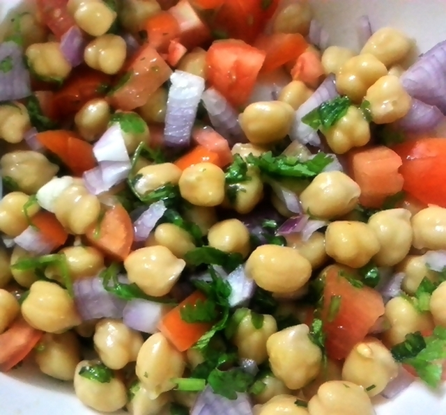 Chickpea Salad With Lemon, Tomato And Herbs | Garbanzo Bean Salad