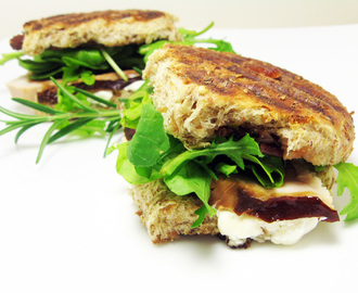 Cherrywood Smoked Turkey Panini with Goat Cheese and Door County Cherry Chutney