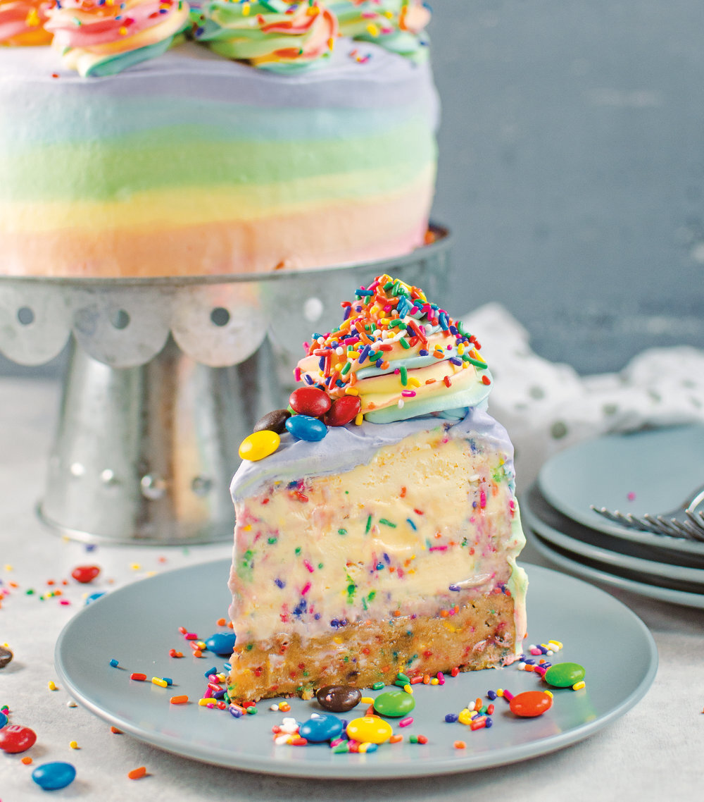 Funfetti Explosion Birthday Ice Cream Cake