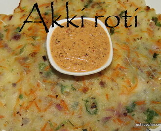 Vegetable Akki rotti I Veg Rice Roti