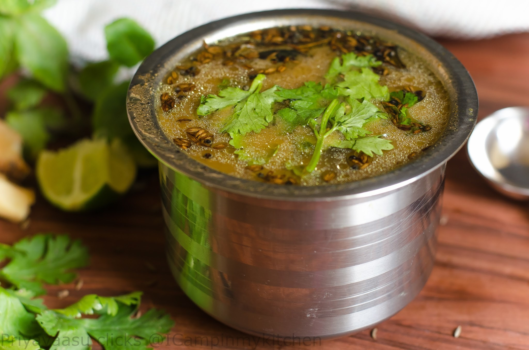 Tulasi Rasam - Holy Basil Rasam/Pepper water