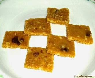 Orange dry fruits barfi | santra barfi