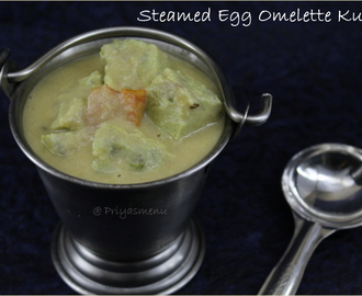 Steamed Egg Omlette Kurma / Diet Friendly Recipe - 92 / #100dietrecipes