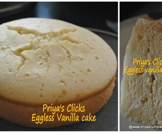 Eggless vanilla sponge cake recipe,how to make basic eggless pressure cooker cake