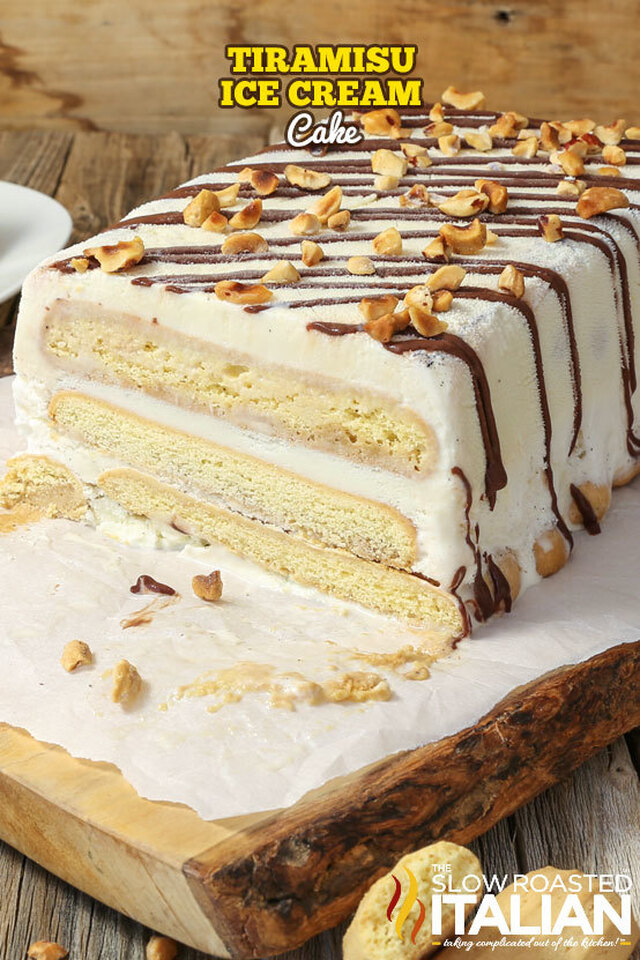 Tiramisu Ice Cream Cake (With Video)
