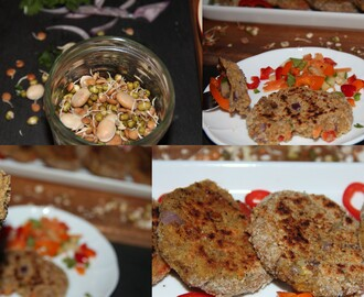 Sprouted bean lentil and oats – Cutlet/Pattie