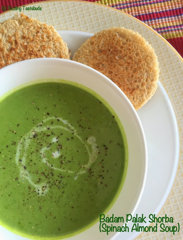 Badam Palak Shorba | Spinach soup with Broccoli and Almond | Easy Soup recipes