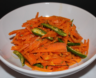 Carrot and Green Chilies Salad/Pickle with Mustard (Raita gajar marcha)