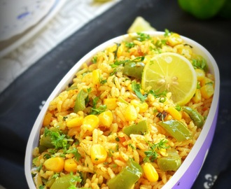 CAPSICUM CORN RICE /  CAPSICUM CORN BATH RECIPE