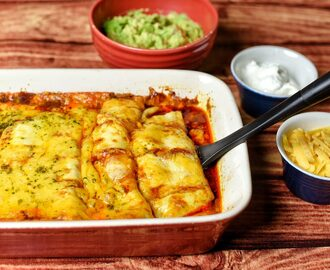 """Nothing But Cheese"" Enchiladas"