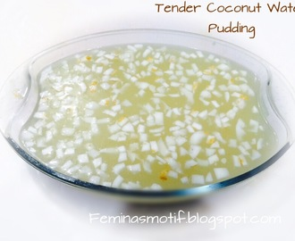 TENDER COCONUT WATER PUDDING