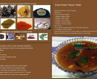 ANGLO-INDIAN PLAIN PEPPER WATER