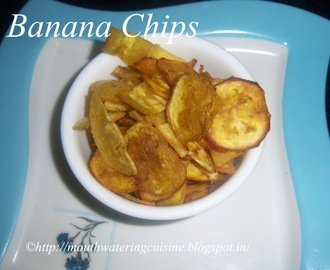 Raw Banana Chips -- How to make Raw Banana Chips at Home