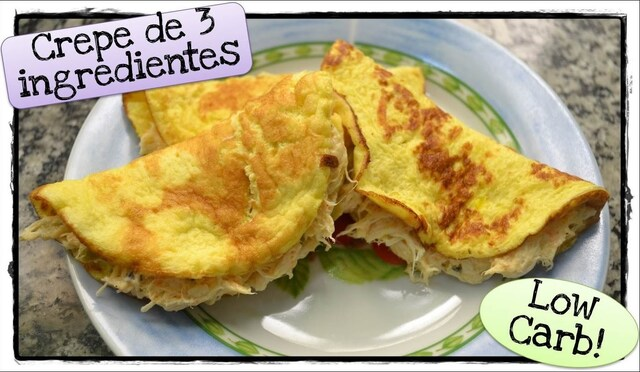 O Crepe LowCarb Simples e Delicioso de 3 ingredientes! - YouTube