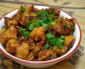 Gobi Manchurian (Dry) / Dry Cauliflower Manchurian - Step by step recipe
