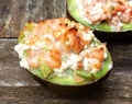 Gevulde Avocado met Zalm en Cottage Cheese