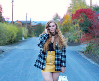 OUTFIT: Yellow Leather Skirt