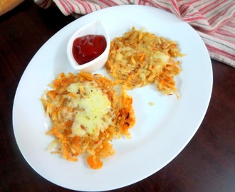 Cheese Hash Browns ~ Quick and Easy Snack for Kids