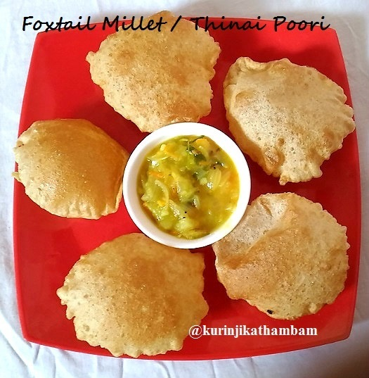 Foxtail Millet Flour / Thinai Maavu Poori | Thinai Recipes
