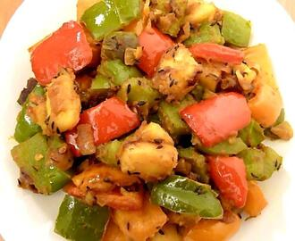 Potato and Bell Pepper Dry Curry – Alu Capcicum