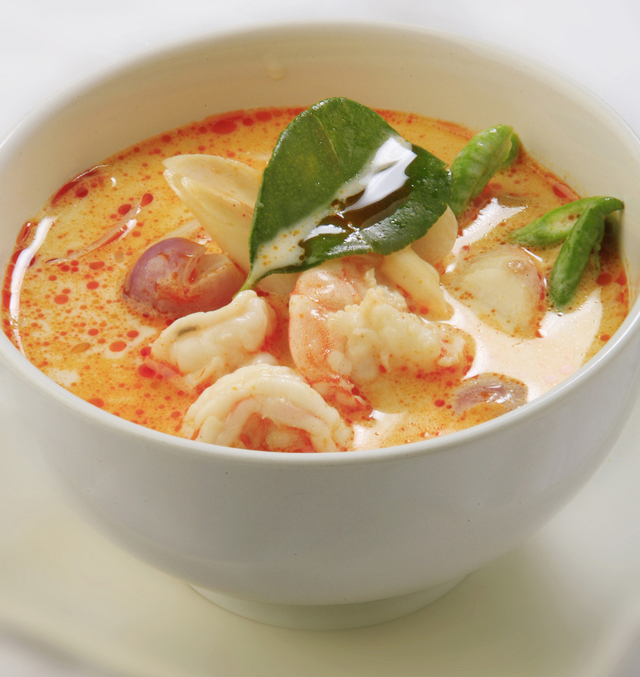 Spicy thai suppe med rejer (Tom Yum Goong)