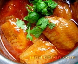 Chicken Wings In Red Sauce (Peek Kai Num-Dang)