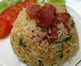 Thai Fried Rice With Chinese Sausage (Khao Pad Kun Ching)