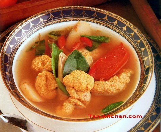 Sour and Spicy fish roe soup
