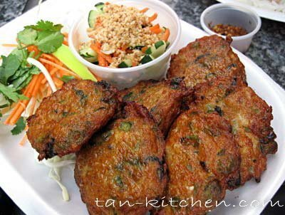 Spicy Fried Fish Cake (Tod man pla)
