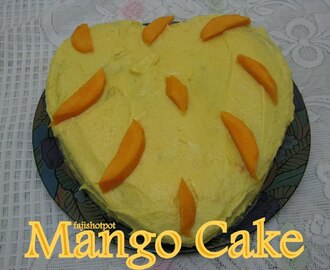 Mango Cake To Celebrate My 1st Blog Anniversary!!!!!!!!